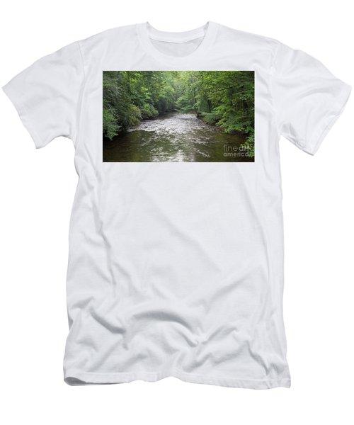 Davidson River In North Carolina Men's T-Shirt (Athletic Fit)