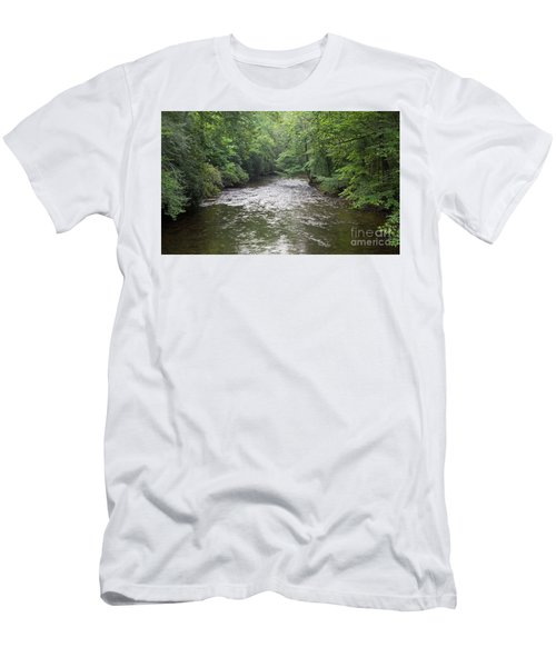 Davidson River In North Carolina Men's T-Shirt (Athletic Fit)