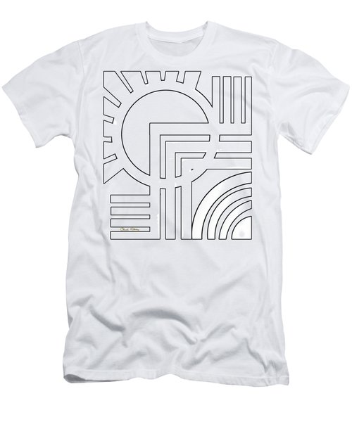 Deco Design White Men's T-Shirt (Athletic Fit)