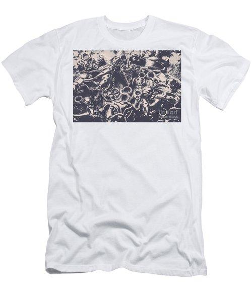 Decorative Dog Design Men's T-Shirt (Athletic Fit)