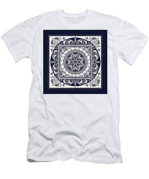 Deep Blue Classic Mandala Men's T-Shirt (Slim Fit) by Deborah Smith