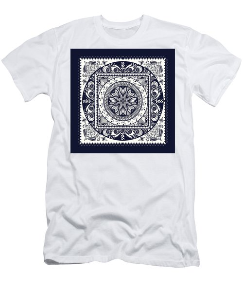 Deep Blue Classic Mandala Men's T-Shirt (Athletic Fit)