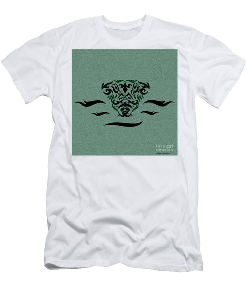 Deep Green Tribal Gator Men's T-Shirt (Athletic Fit)
