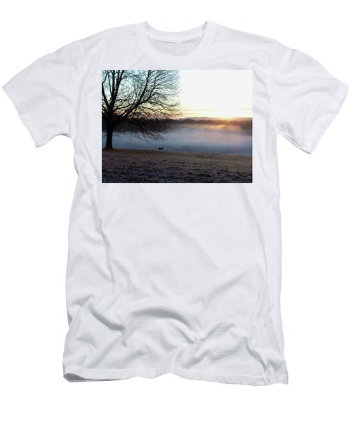 Deer At Dawn Men's T-Shirt (Athletic Fit)