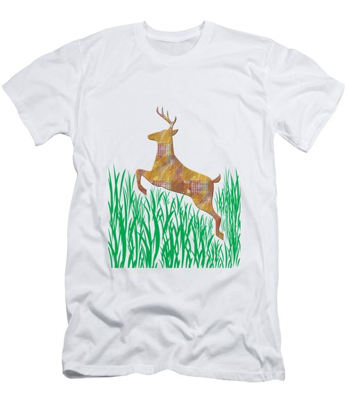 Deer In Grass Men's T-Shirt (Slim Fit) by Aimee L Maher Photography and Art Visit ALMGallerydotcom