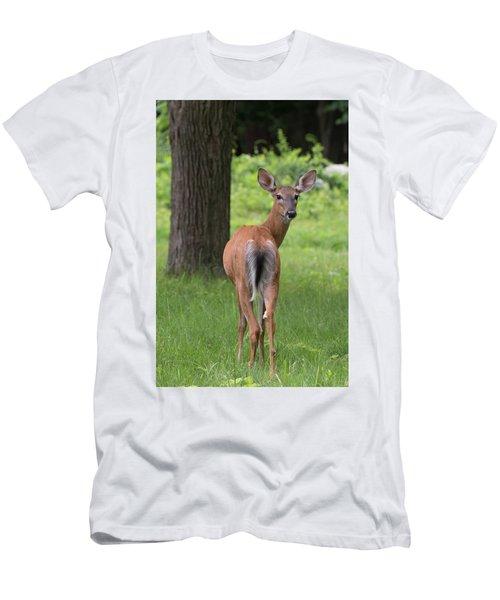 Deer Looking Back Men's T-Shirt (Athletic Fit)