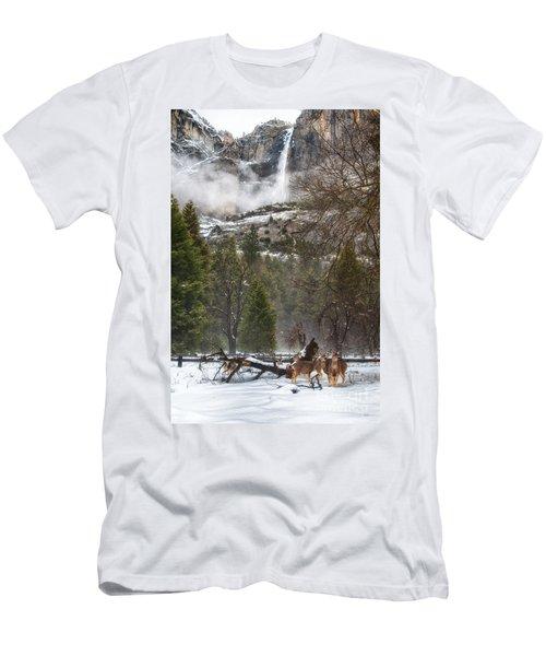 Deer Of Winter Men's T-Shirt (Athletic Fit)