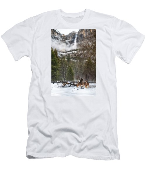 Deer Of Winter Men's T-Shirt (Athletic Fit)