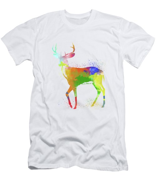 Deer Watercolor 1 Men's T-Shirt (Athletic Fit)