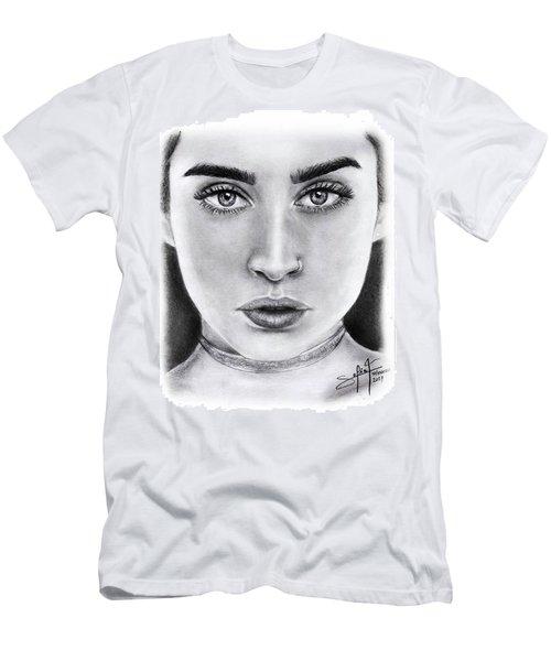 Lauren Jauregui Drawing By Sofia Furniel  Men's T-Shirt (Slim Fit) by Jul V