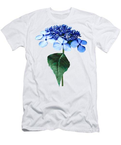 2515d7280e45 Delicate Blue Lacecap Hydrangea Men s T-Shirt (Athletic Fit)