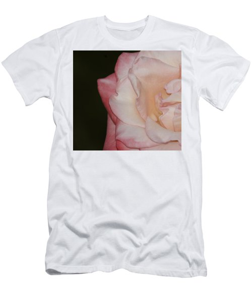 Delicate Pink Rose Men's T-Shirt (Athletic Fit)