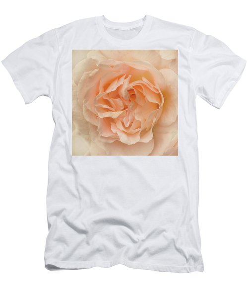 Men's T-Shirt (Slim Fit) featuring the photograph Delicate Rose by Jacqi Elmslie