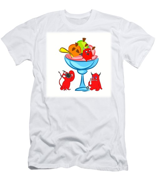 Deliciously Cool Ice Cream Sundae Men's T-Shirt (Athletic Fit)