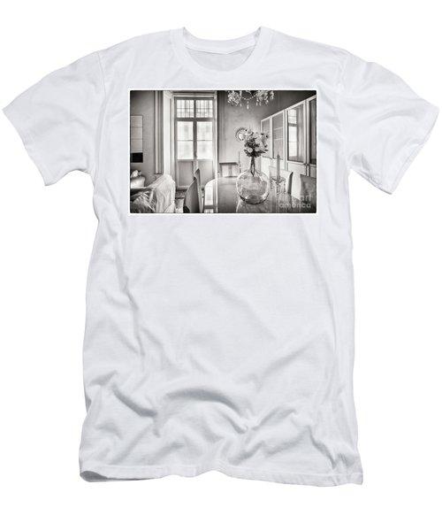 Men's T-Shirt (Athletic Fit) featuring the photograph Demijohn And Window Cadiz Spain by Pablo Avanzini