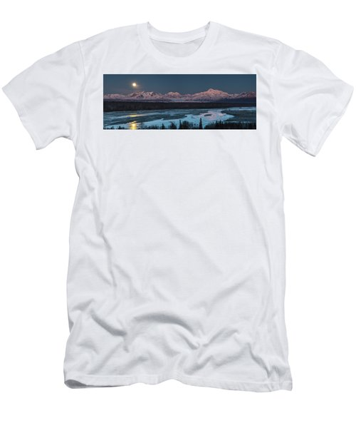 Denali Morning Blue Men's T-Shirt (Athletic Fit)