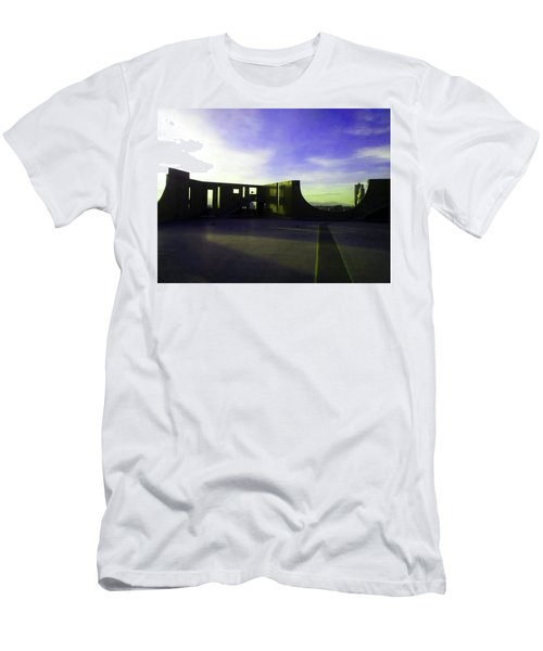 Men's T-Shirt (Slim Fit) featuring the photograph Denver Art Museum Deck 1 by Marilyn Hunt