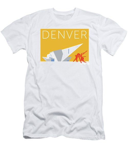 Men's T-Shirt (Athletic Fit) featuring the digital art Denver Art Museum/gold by Sam Brennan