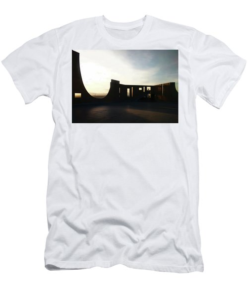 Men's T-Shirt (Athletic Fit) featuring the photograph Denver Art Museum Ponti Deck by Marilyn Hunt