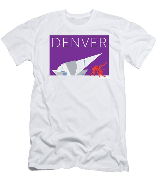 Men's T-Shirt (Athletic Fit) featuring the digital art Denver Art Museum/purple by Sam Brennan