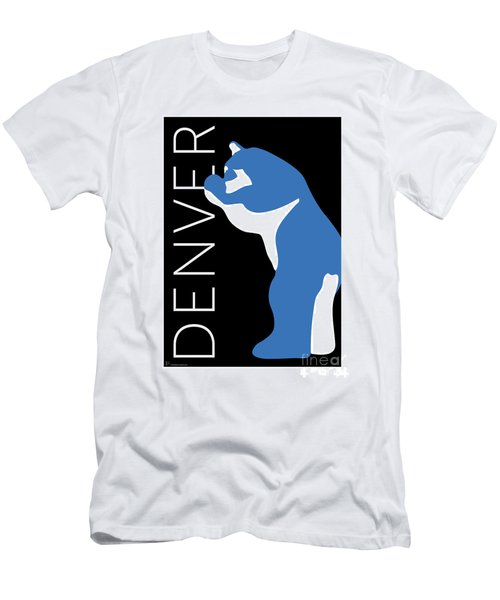 Men's T-Shirt (Athletic Fit) featuring the digital art Denver Blue Bear/black by Sam Brennan