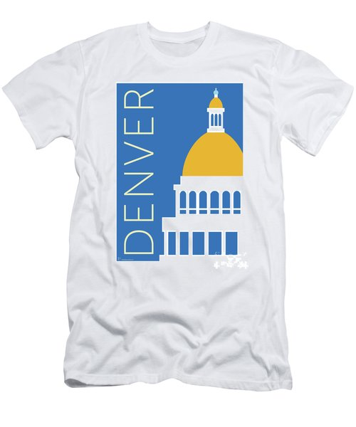 Men's T-Shirt (Athletic Fit) featuring the digital art Denver Capitol/blue by Sam Brennan