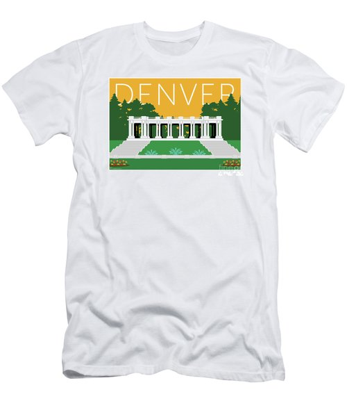 Men's T-Shirt (Athletic Fit) featuring the digital art Denver Cheesman Park/gold by Sam Brennan