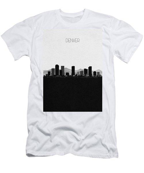 Denver Cityscape Art Men's T-Shirt (Athletic Fit)