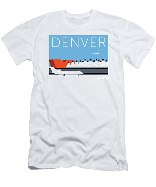 Men's T-Shirt (Athletic Fit) featuring the digital art Denver Dia/blue by Sam Brennan