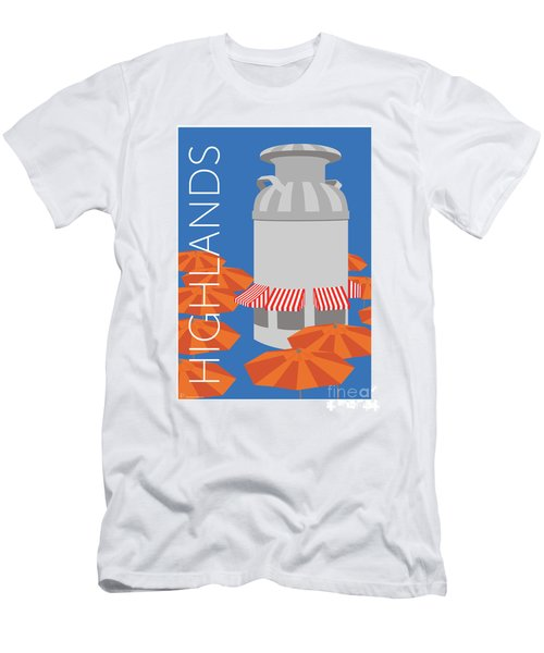 Men's T-Shirt (Athletic Fit) featuring the digital art Denver Highlands/blue by Sam Brennan