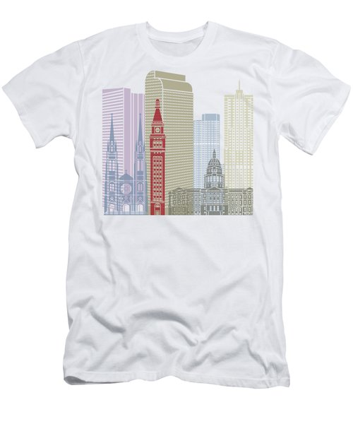Denver Skyline Poster Men's T-Shirt (Athletic Fit)