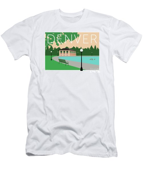 Men's T-Shirt (Athletic Fit) featuring the digital art Denver Washington Park/beige by Sam Brennan