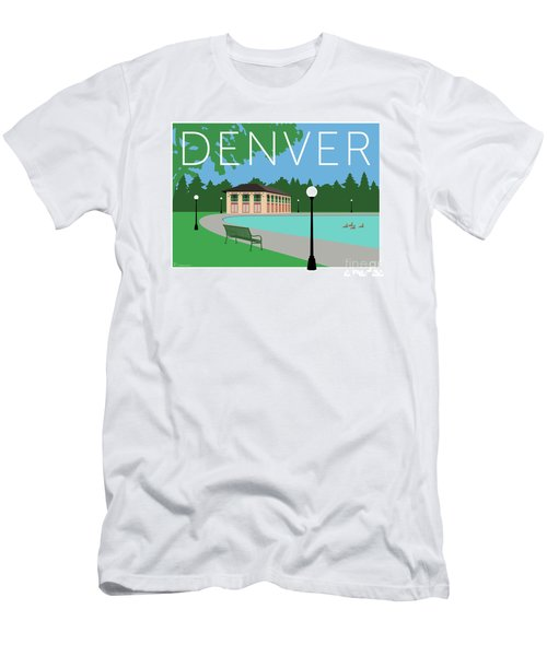 Men's T-Shirt (Athletic Fit) featuring the digital art Denver Washington Park/blue by Sam Brennan