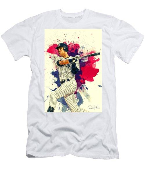 Derek Jeter Men's T-Shirt (Slim Fit) by Taylan Apukovska