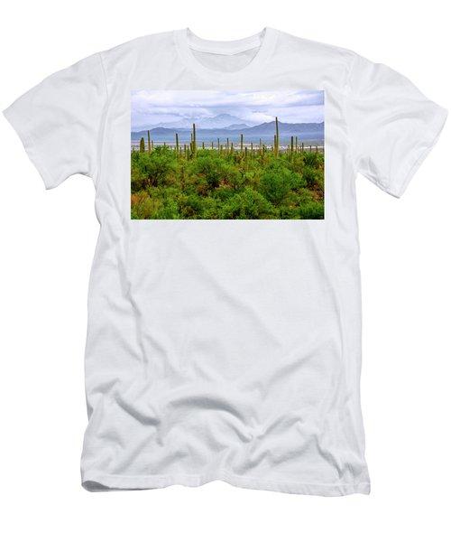 Desert Green Men's T-Shirt (Athletic Fit)