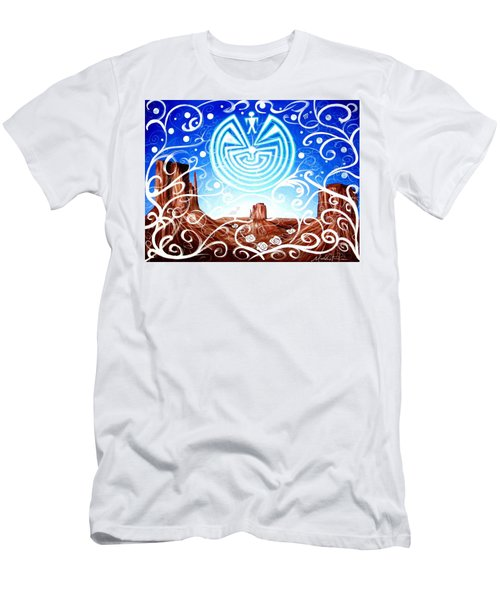 Men's T-Shirt (Athletic Fit) featuring the painting Desert Hallucinogens by Michelle Dallocchio