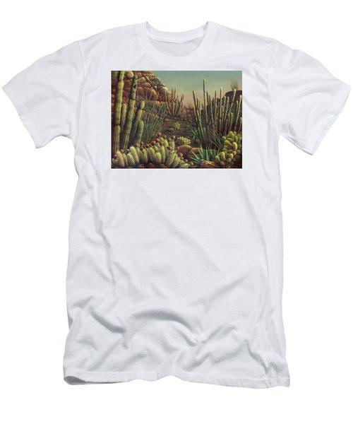 Desert Potpourri  Men's T-Shirt (Slim Fit) by James Larkin