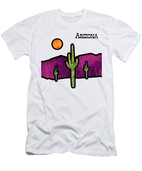 Desert Stained Glass Men's T-Shirt (Athletic Fit)