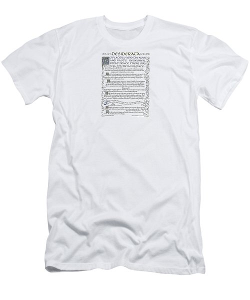 Desiderata-blue Men's T-Shirt (Athletic Fit)