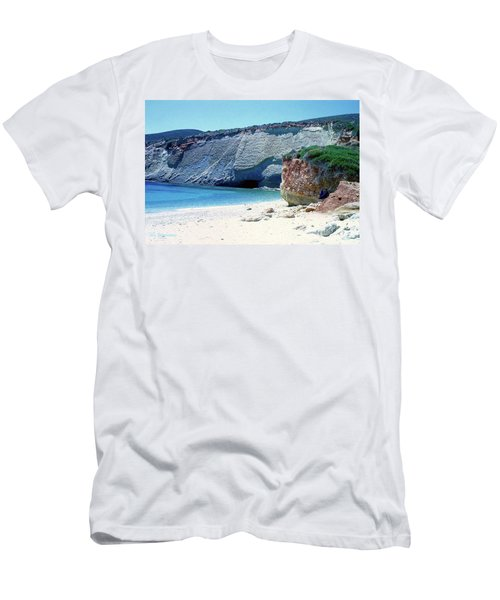 Desolated Island Beach Men's T-Shirt (Athletic Fit)