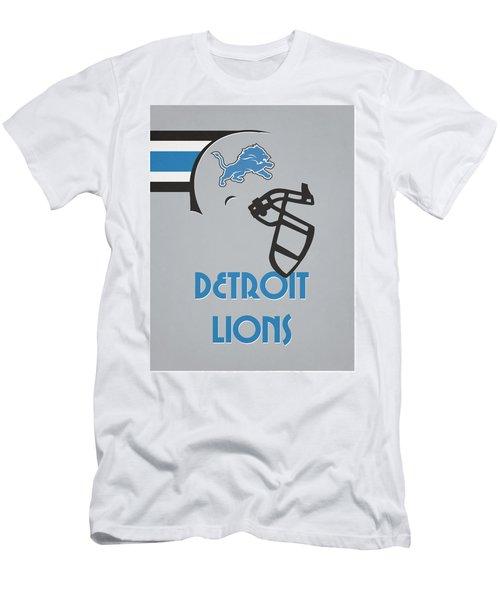 Detroit Lions Team Vintage Art Men's T-Shirt (Athletic Fit)