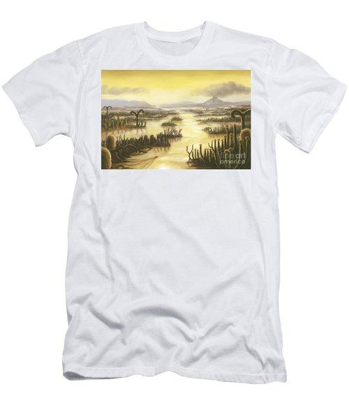 Devonian Period Landscape, Artwork Men's T-Shirt (Athletic Fit)