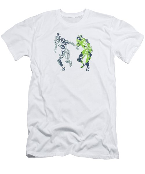 Dez Bryant Richard Sherman Cowboys Seahawks Pixel Art 1 Men's T-Shirt (Athletic Fit)