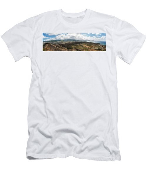 Diamond Head View Panoramic Men's T-Shirt (Athletic Fit)