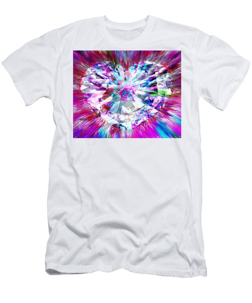Diamond Heart Men's T-Shirt (Athletic Fit)