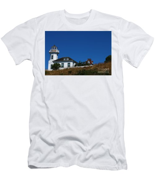 Dimick Lighthouse - Port Townsend Men's T-Shirt (Athletic Fit)