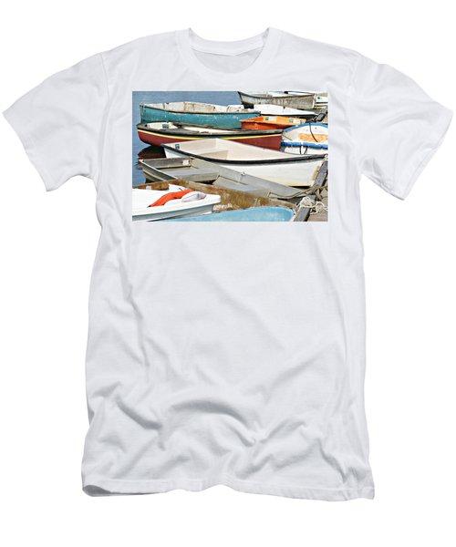 Dinghys At Bearskin Neck Men's T-Shirt (Slim Fit) by Joe Faherty