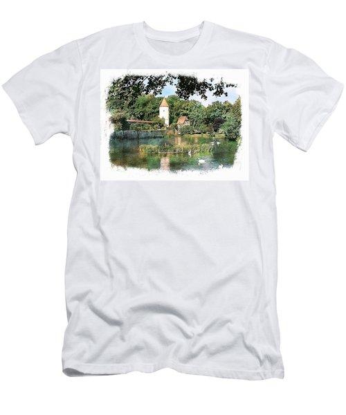Dinkelsbuhl - Rothenburg Pond Men's T-Shirt (Athletic Fit)