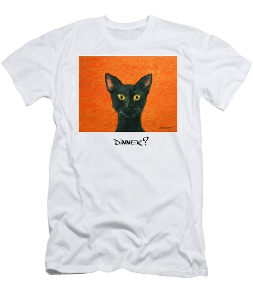 Men's T-Shirt (Slim Fit) featuring the painting Dinner? 2 by Marna Edwards Flavell