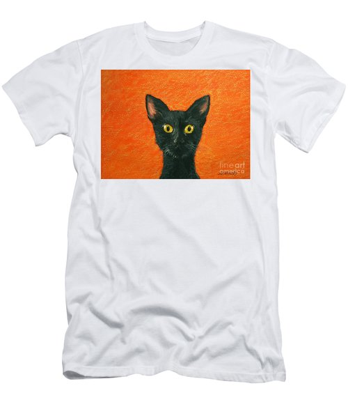 Men's T-Shirt (Slim Fit) featuring the painting Dinner? by Marna Edwards Flavell